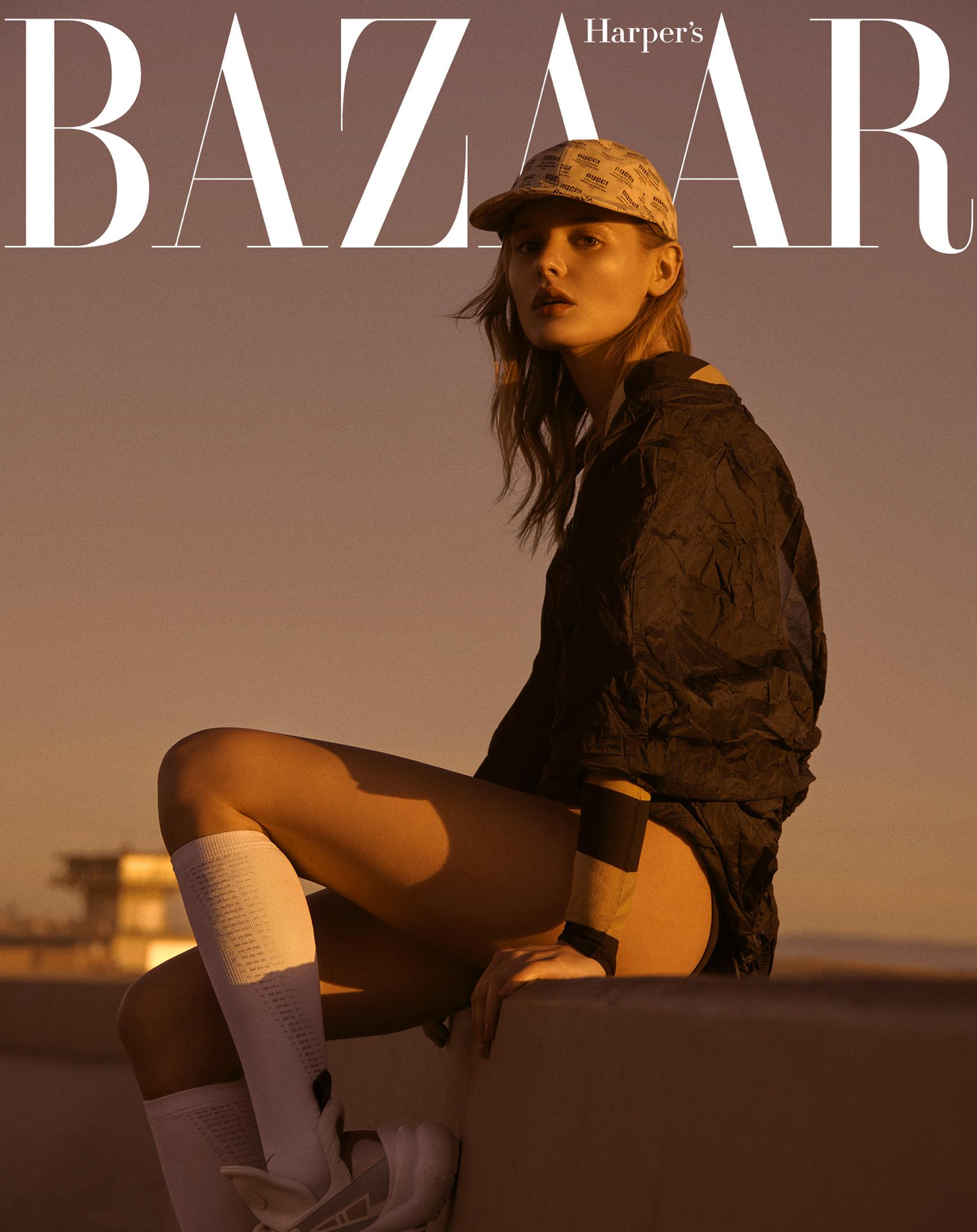 Пляжно-спортивная одежда Calzedonia / Paige Reifler By Andreas Ortner / Harpers Bazaar Czech august 2018