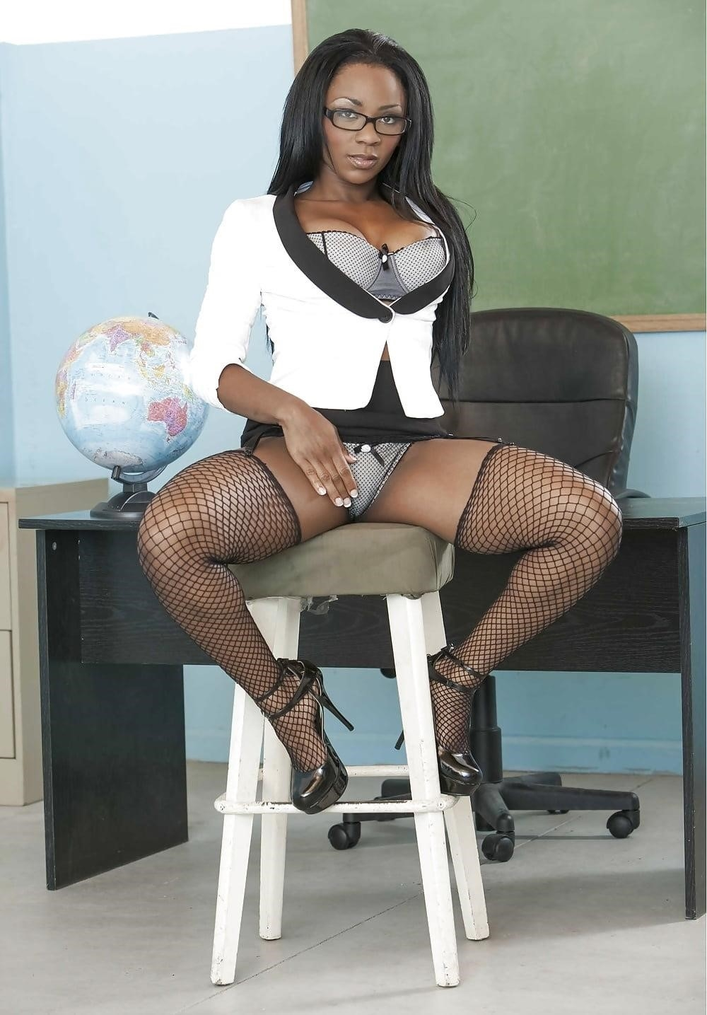 Ebony sexy teacher-3686