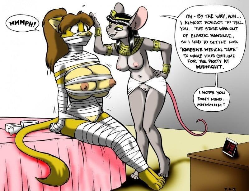 Girl in tape bondage-8387