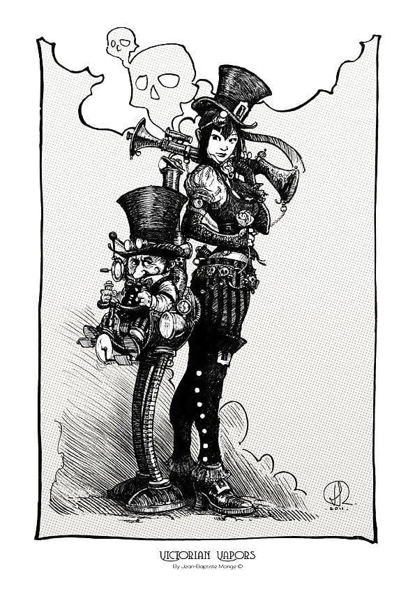 Steampunk hats female-6541