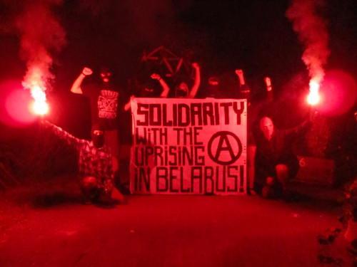 Солидарность с восставшими в Беларуси