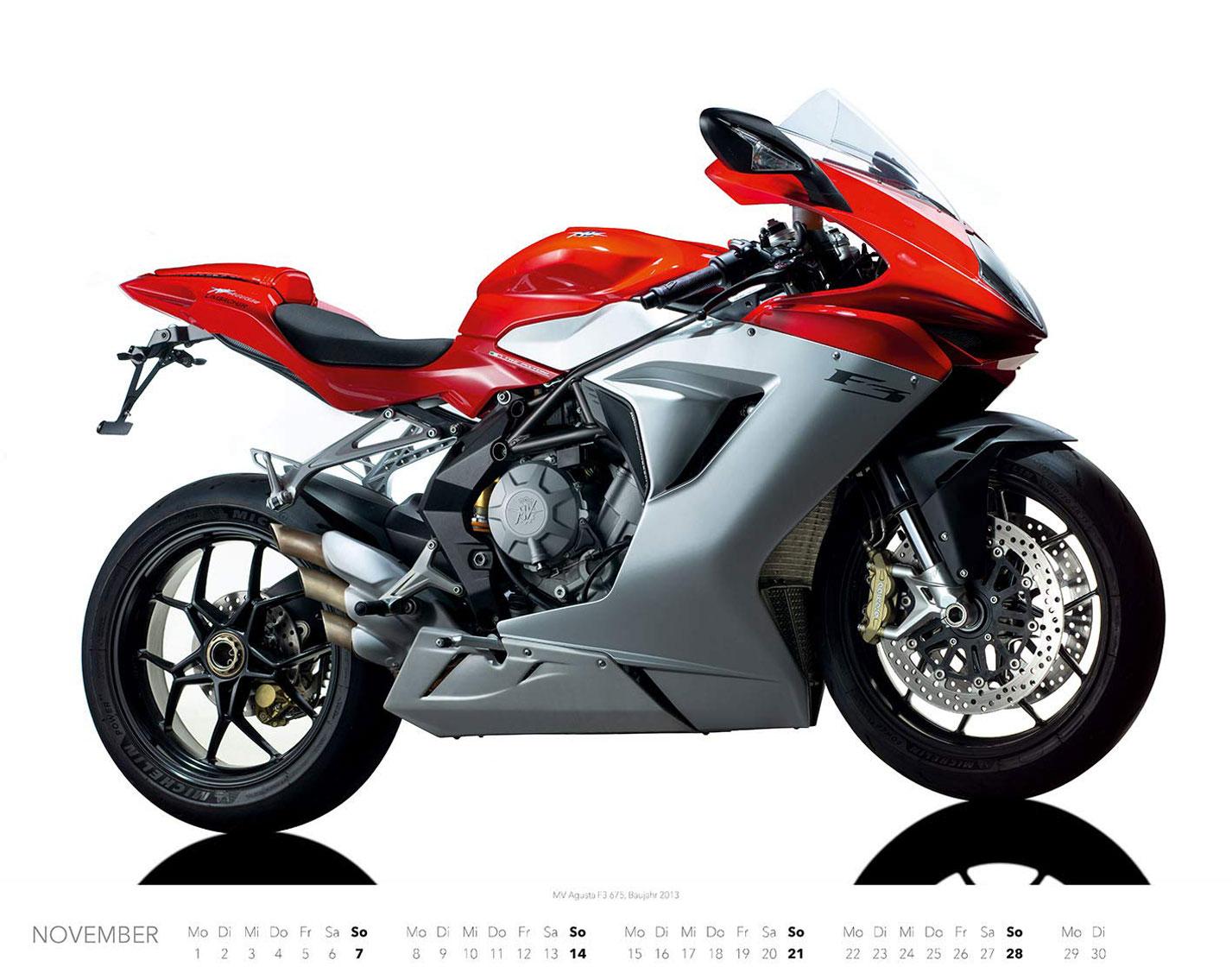 Календарь с крутыми мотоциклами на 2021 год / ноябрь