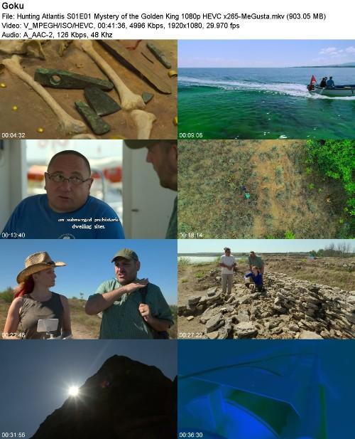 Hunting Atlantis S01E01 Mystery of the Golden King 1080p HEVC x265-MeGusta