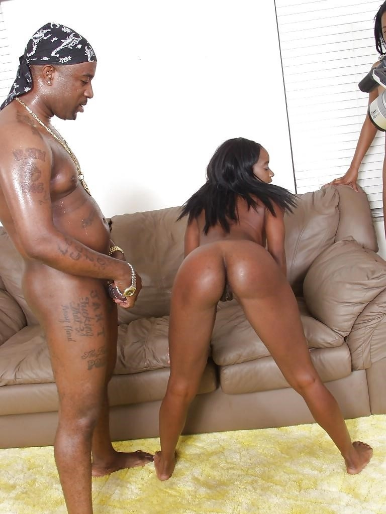 Sexy black threesome-3524