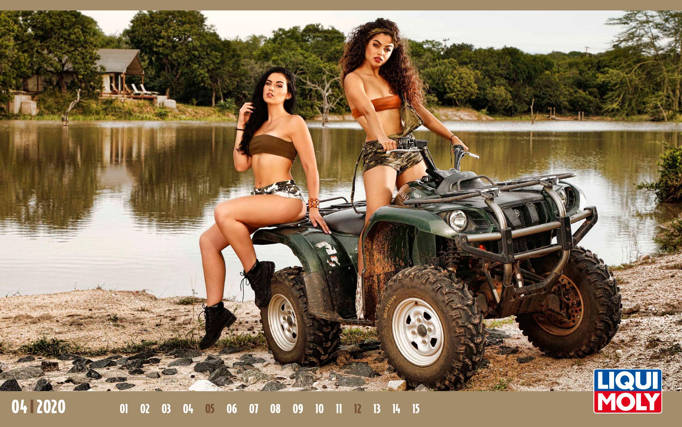 Календарь с девушками автоконцерна Liqui Moly, 2020 год / апрель-1
