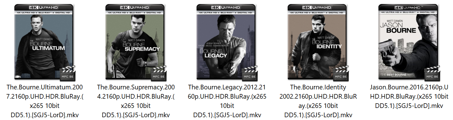 Jason Bourne 2016 2160p UHD HDR BluRay (x265 10bit DD5 1) [SGJ5-LorD]
