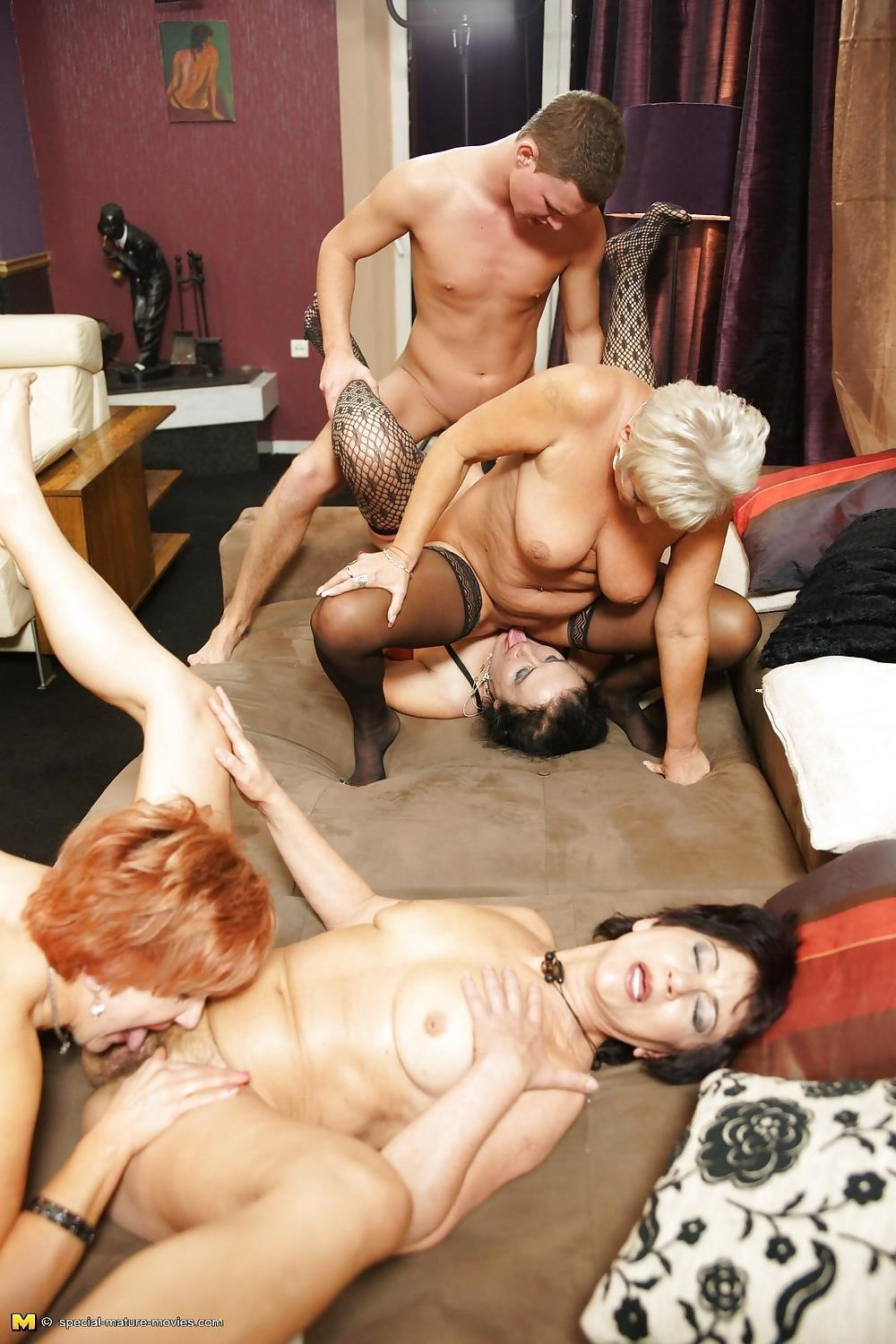 Group sex with mom-6191
