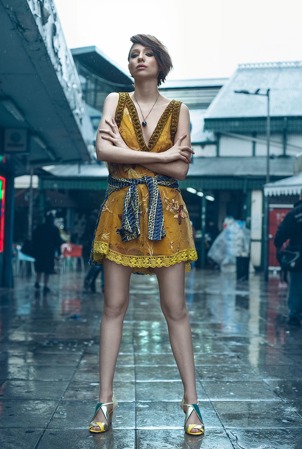 Одежда модного бренда Guevara Ocampo на фотомодели Carla Podesta, фотограф Alejandro Bauducco