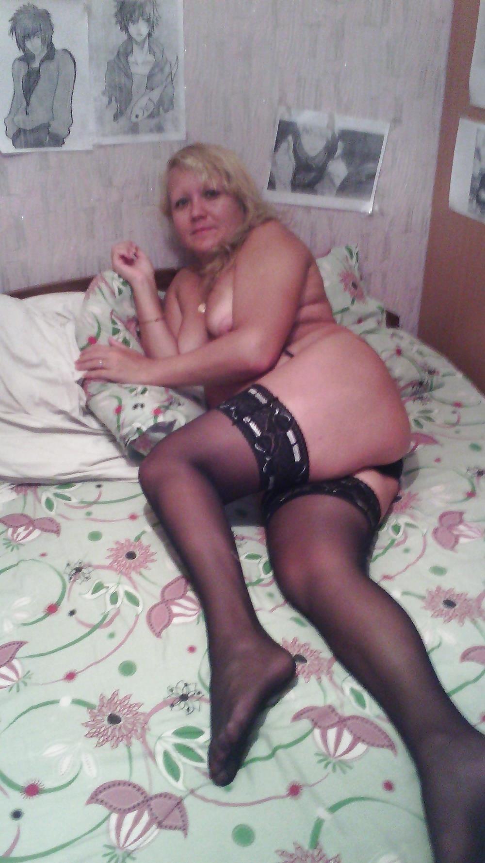 Wife naked stockings-9049