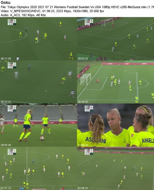 Tokyo Olympics 2020 2021 07 21 Womens Football Sweden Vs USA 1080p HEVC x265-MeGusta