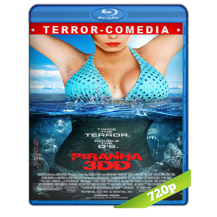 Piraña 2 (2012) BRRip 720p Audio Trial Latino-Castellano-Ingles 5.1