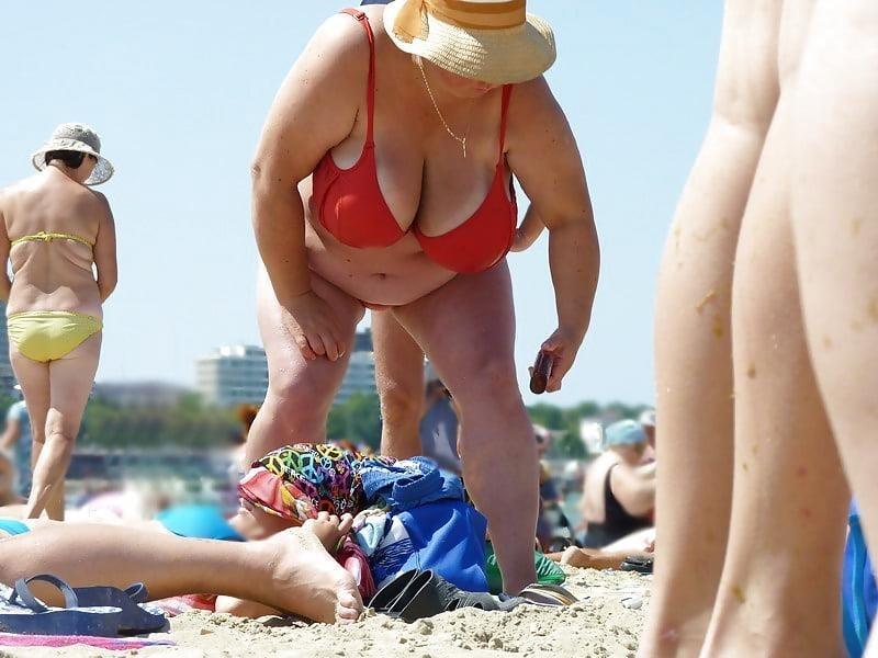 Nude big boobs on beach-8307