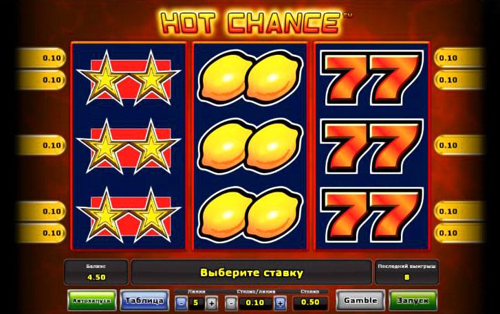 игровой автомат hot-chance