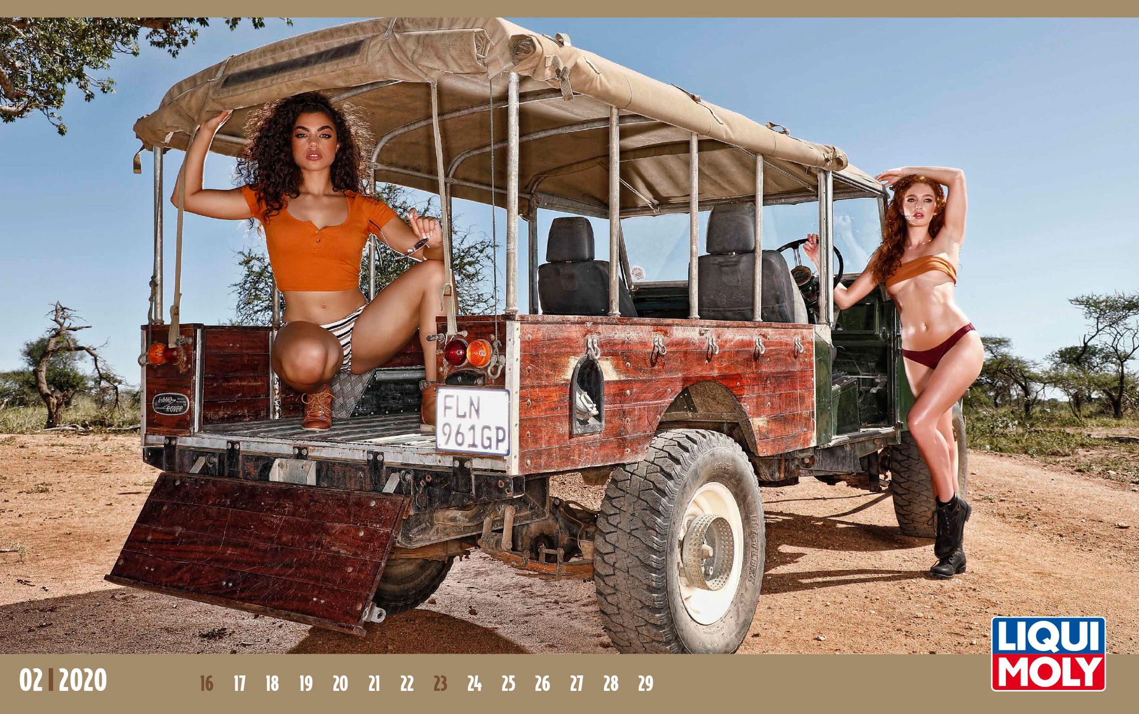 Календарь с девушками автоконцерна Liqui Moly, 2020 год / февраль-2