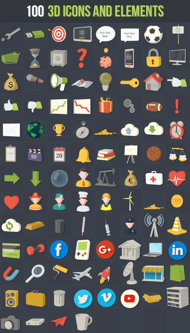100 Animated 3D Icons for Explainer Video - 10