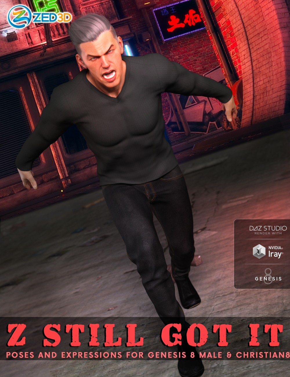 Z Still Got It Poses and Expressions for Genesis 8 Male and Christian 8