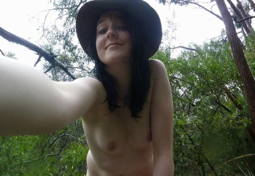 Naked girl taking selfie-6755