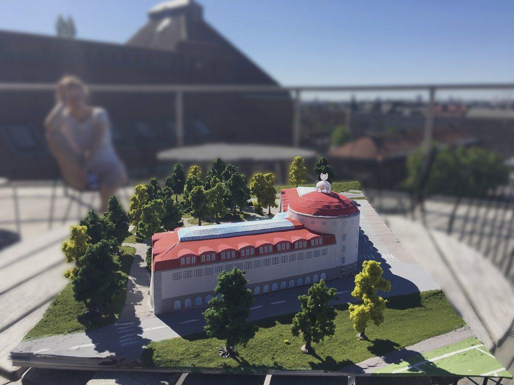 Esplanadskolan – fysisk modell – skala 1:200