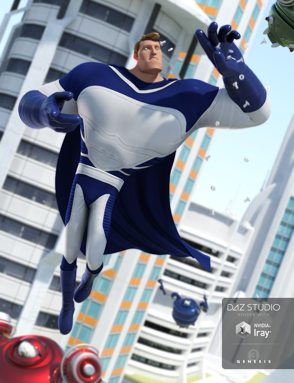 Toon Super Guy Suit for Genesis 3 Male(s)