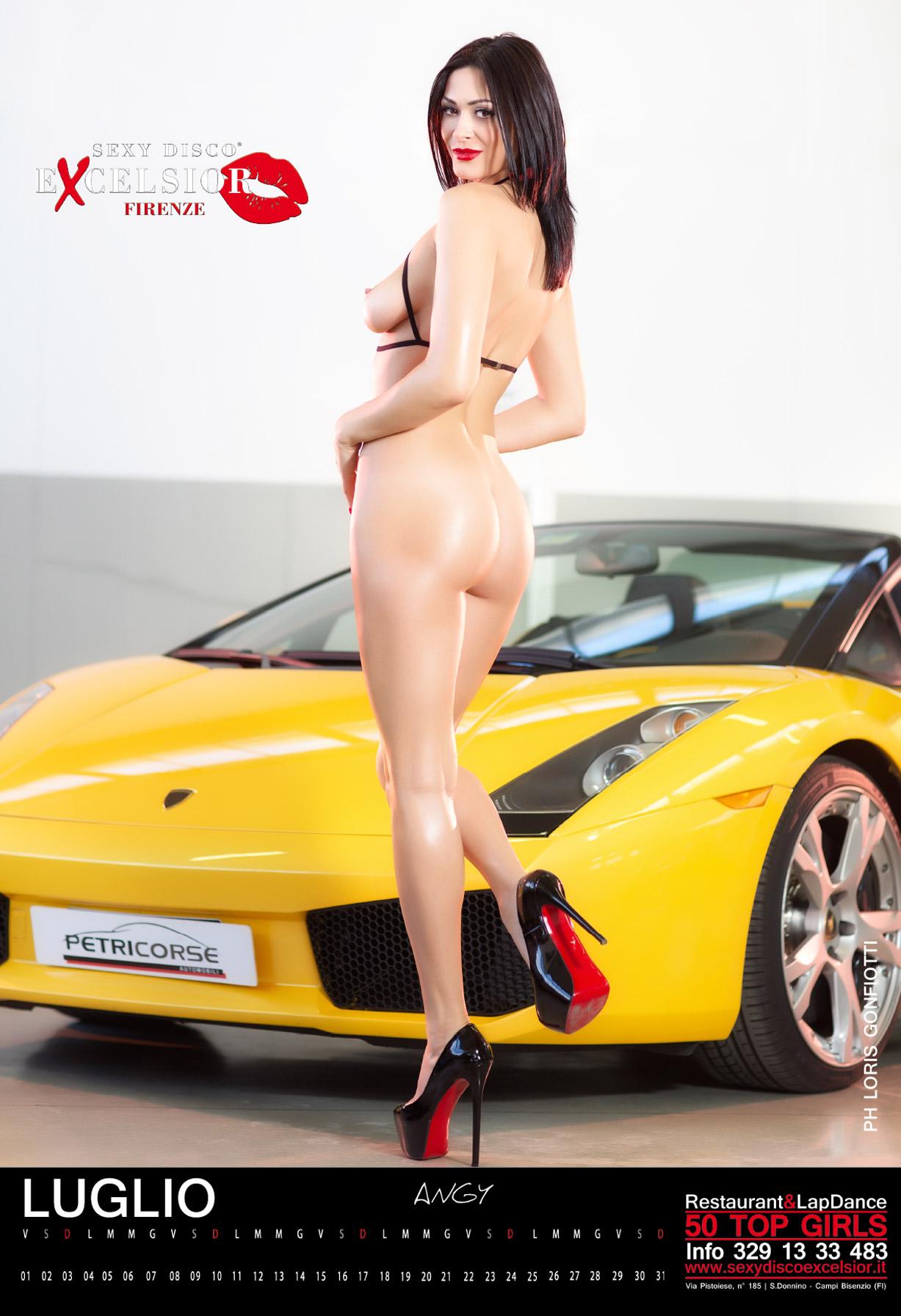 эротический календарь ночного клуба Sexy Disco Excelsior 2016 calendar - Angy