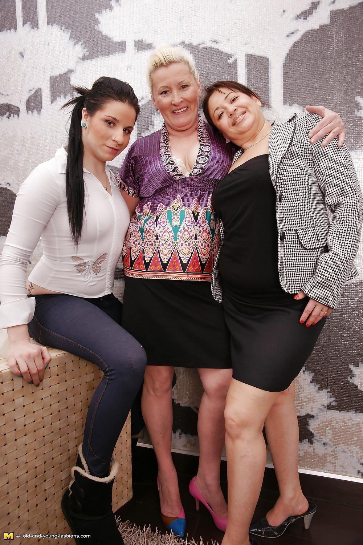 Lesbian grandma orgy-5281