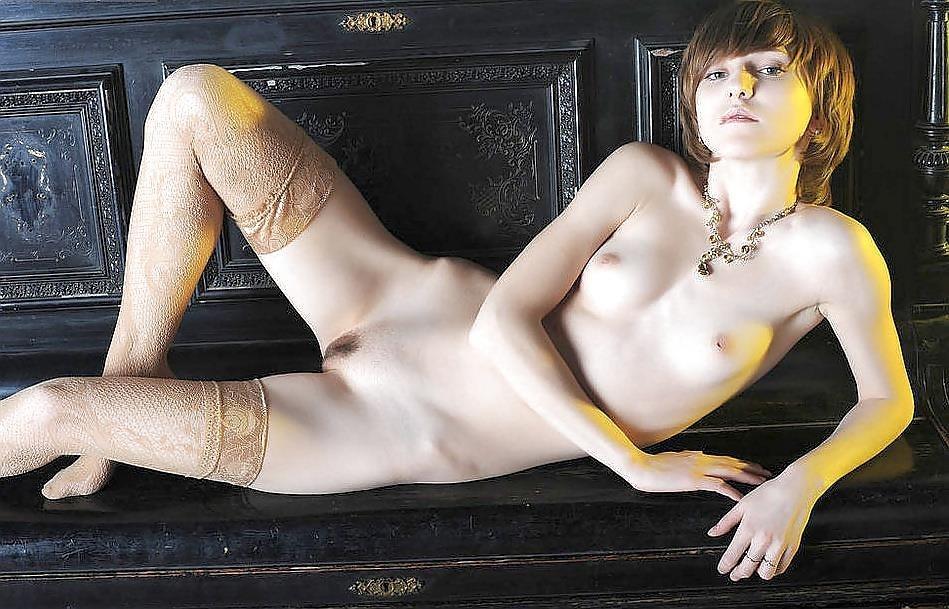 Short hair mature nude-3958