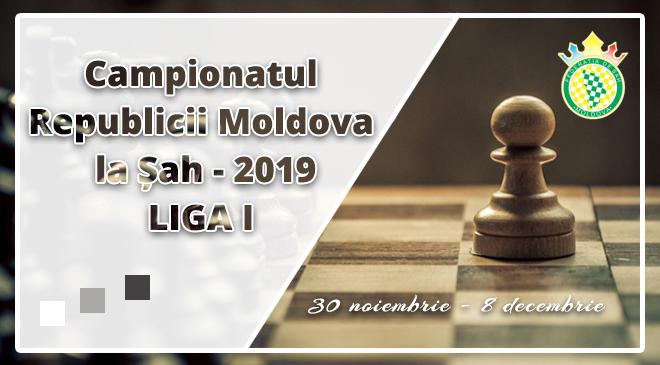 Campionatul Republicii Moldova la Șah – 2019 | Liga I