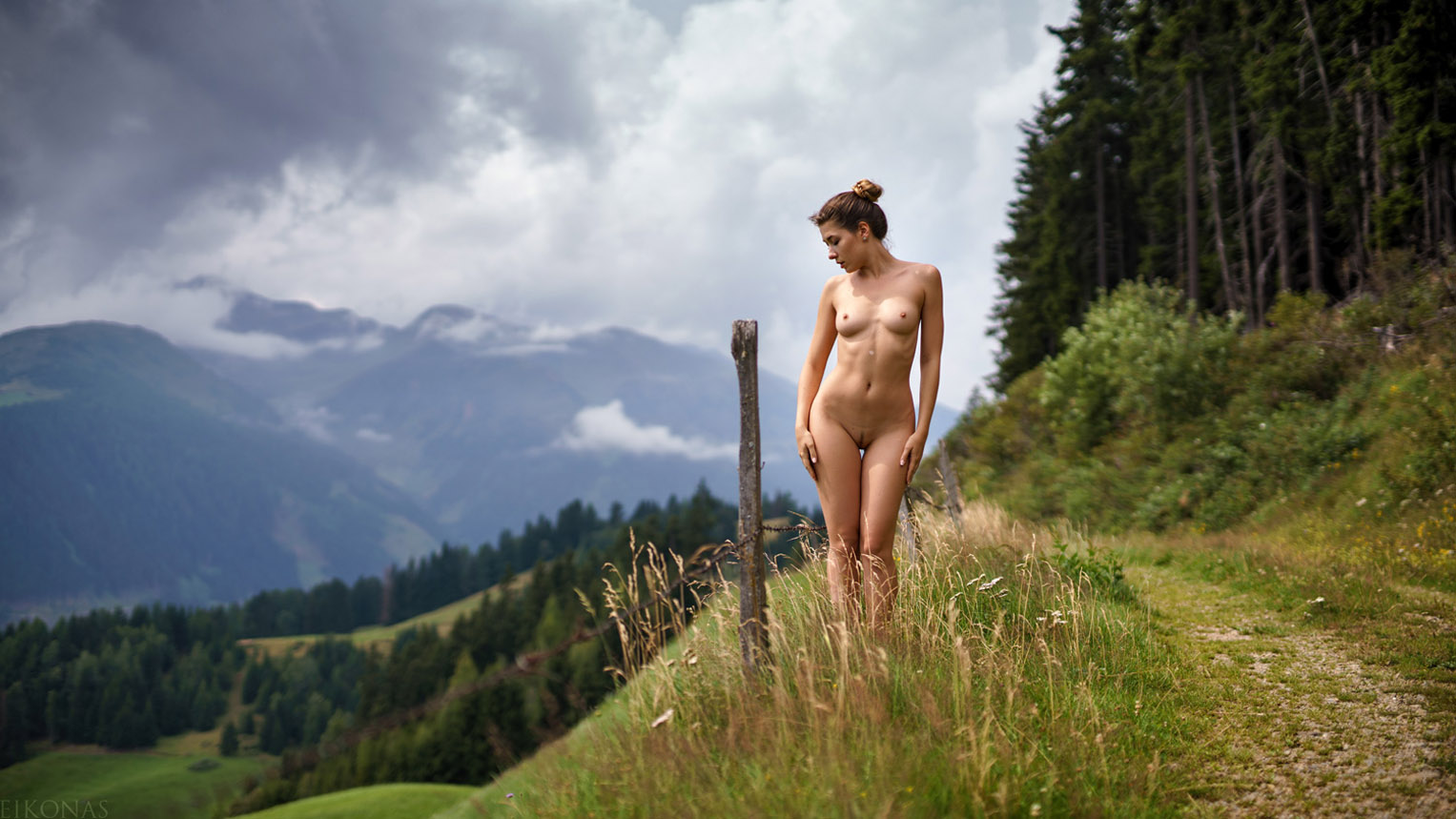 Naked nature photo shoot