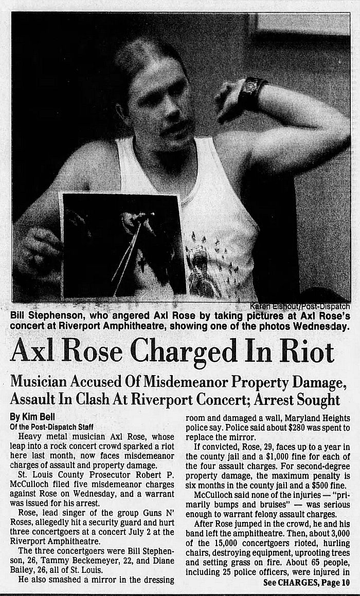 1991.08.08 - The St. Louis Post-Dispatch - Axl Rose Charged In Riot K43CvDvy_o