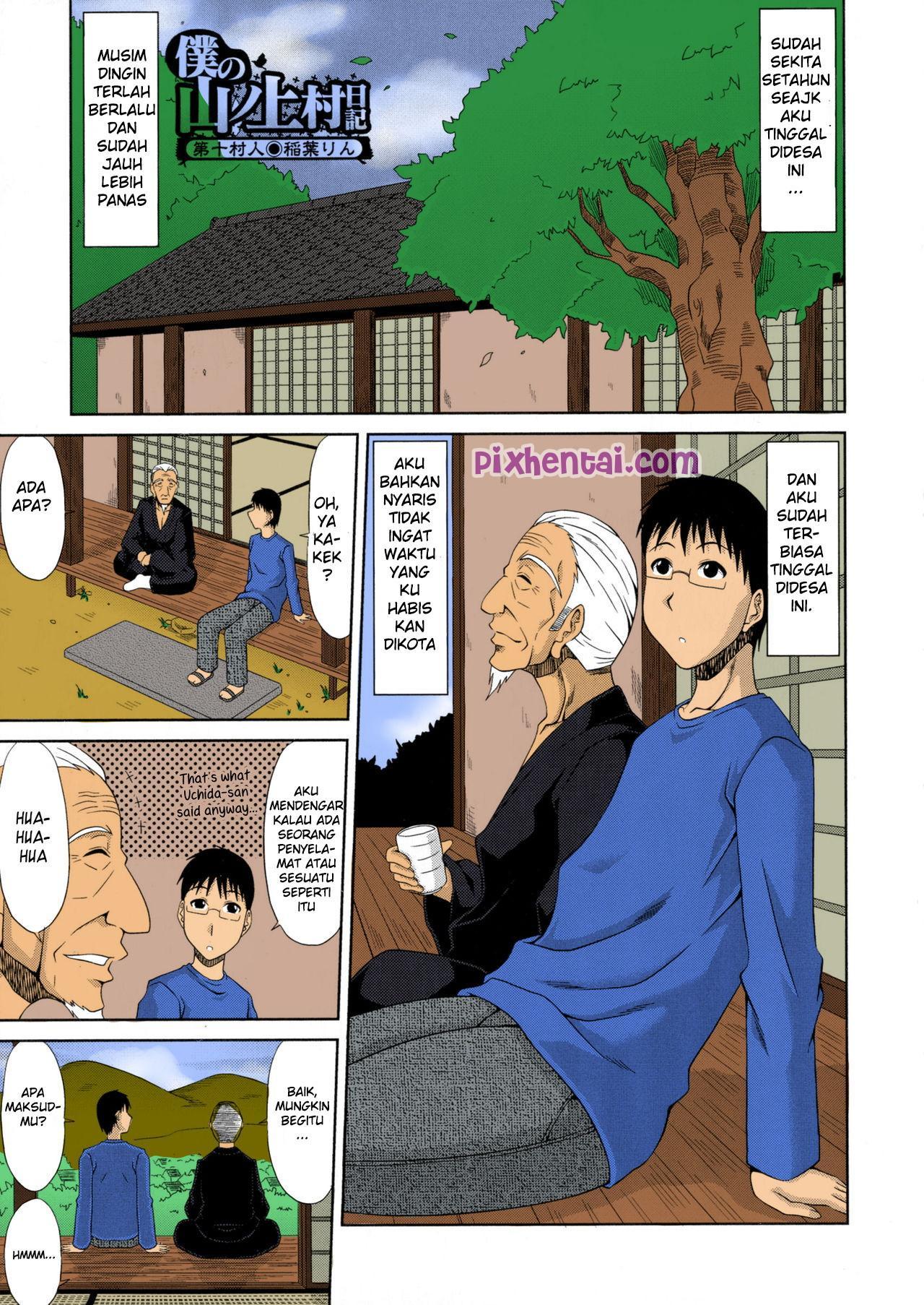 Komik hentai xxx manga sex bokep cerita kakek menghamili seluruh wanita desa 01