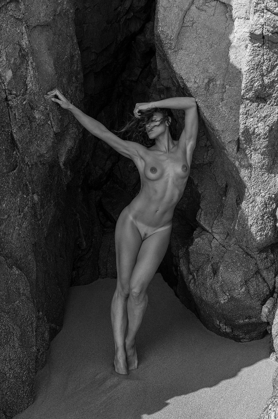 Eliya Ca nude on the beach by Arthur Hubert Legrand - NuExpo Magazine
