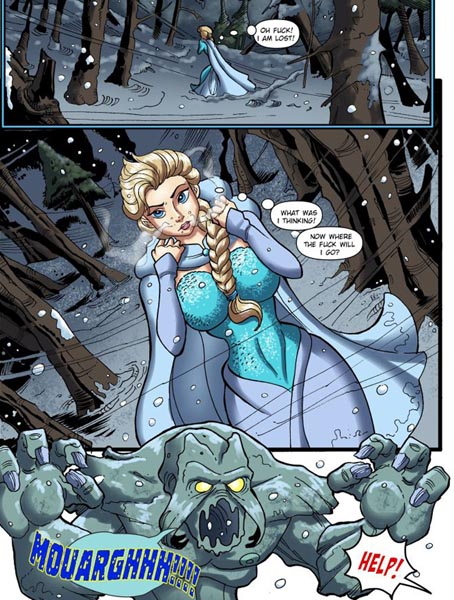 [Frozen Parody] Elsa Monster Sex