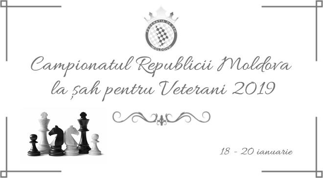 Campionatul Republicii Moldova la șah pentru Veterani 2019