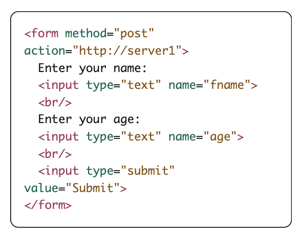 form submit examples
