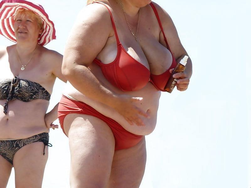 Nude big boobs on beach-9034