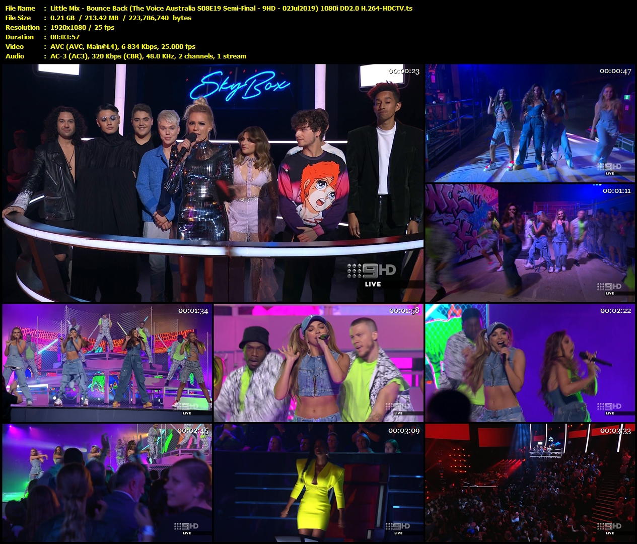 Hdtv Little Mix Bounce Back The Voice Australia S08e19 Semi Final 9hd 02jul2019 1080i Sharemania Us