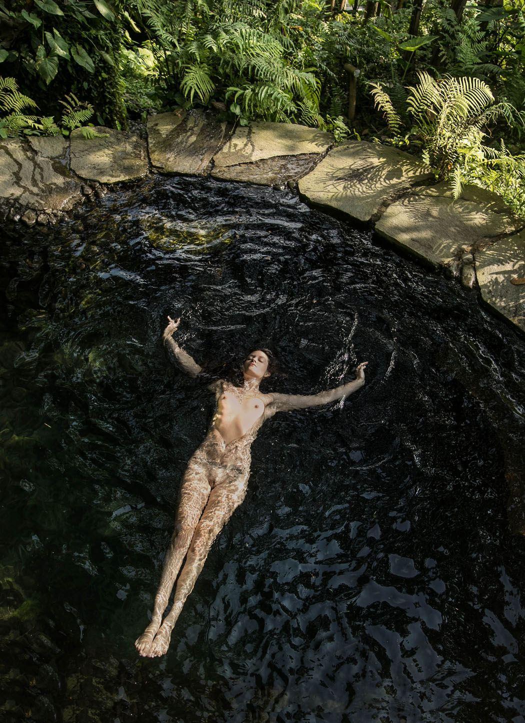 sexy Amber Flowers nude by Heather Hussey Van Gaale