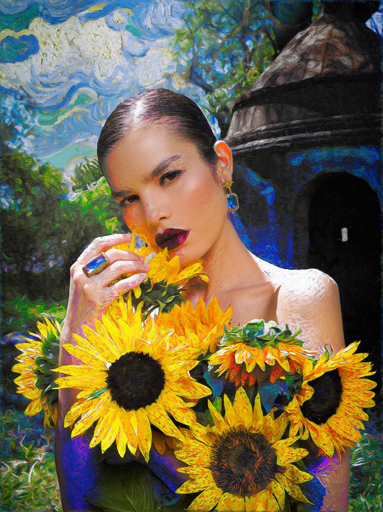 Реклама ювелирных изделий в стиле Ван Гога / фото 02