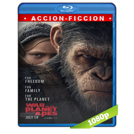 El Planeta De Los Simios La Guerra (2017) BRRip Full 1080p Audio Trial Latino-Castellano-Ingles 5.1