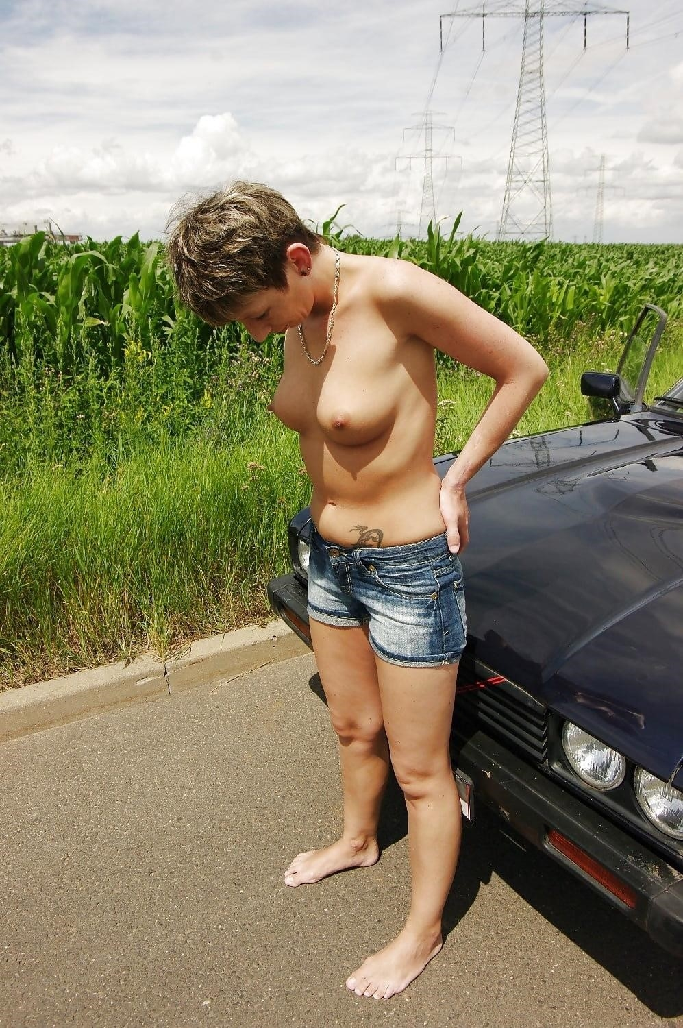 Naked girl with jeans-9945