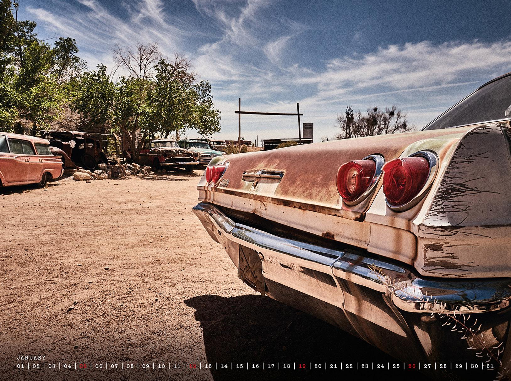 Route 66 / календарь 2020 / январь