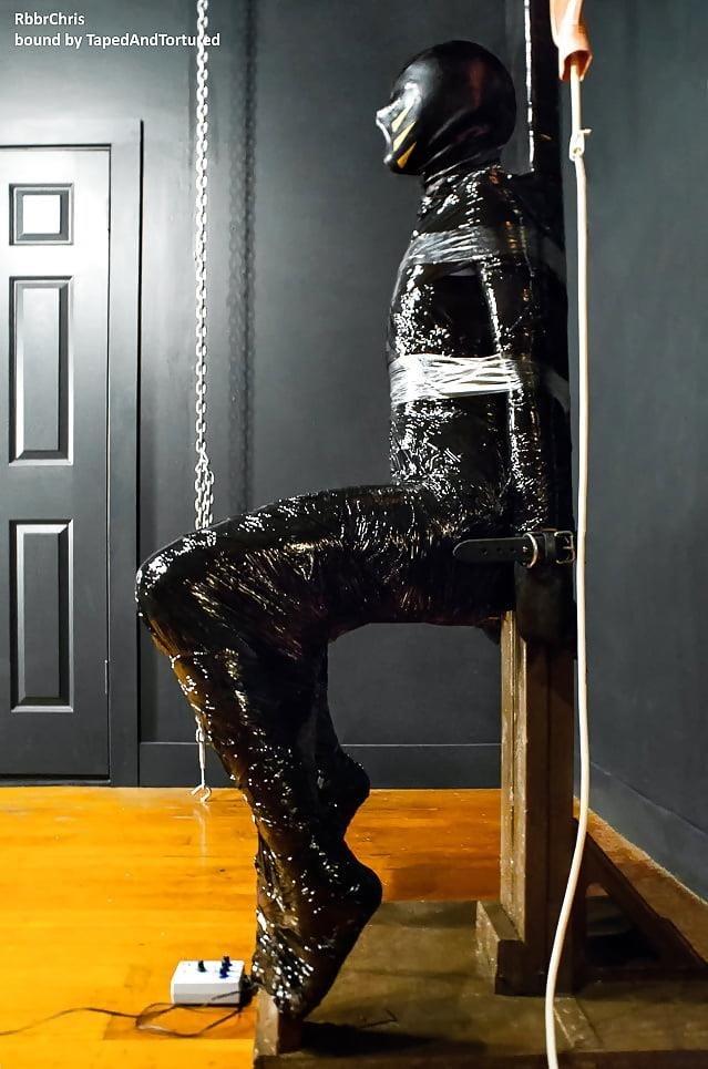 Mummification bondage girl-1367