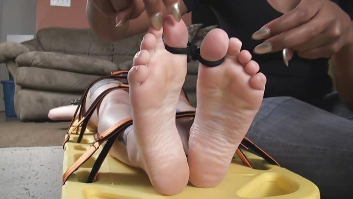 Bondage tickle feet-8293
