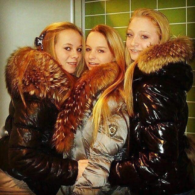 Jean jacket with brown fur-5566