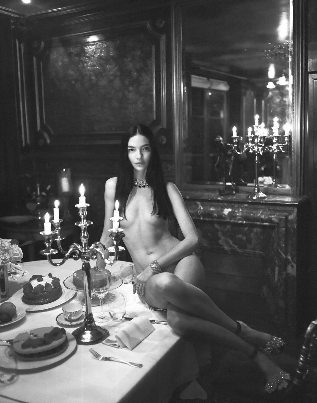 Vogue Italia December 2017 - The Celebration Issue / Bella Hadid, Sara Sampaio, Irina Shayk, Anja Rubik, Natasha Poly, Anna Ewers, Joan Smalls, Lily Aldridge, Mariacarla Boscono and other by Mert Alas and Marcus Piggott