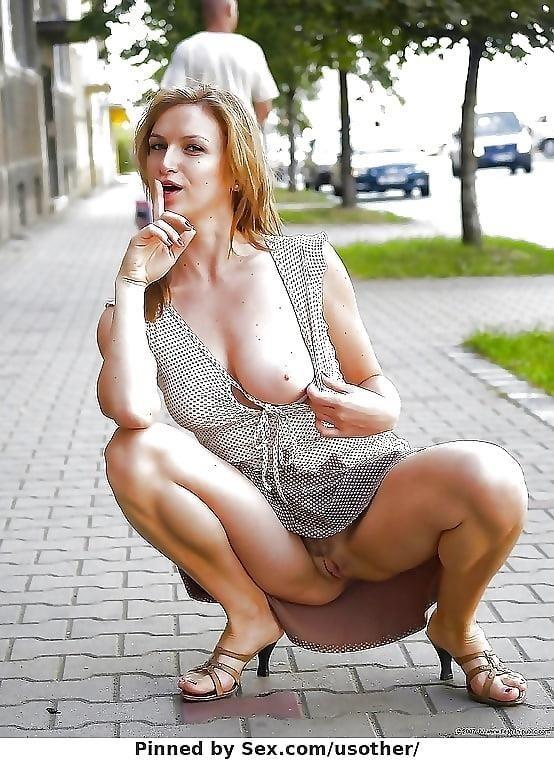 Busty public nudity-3803