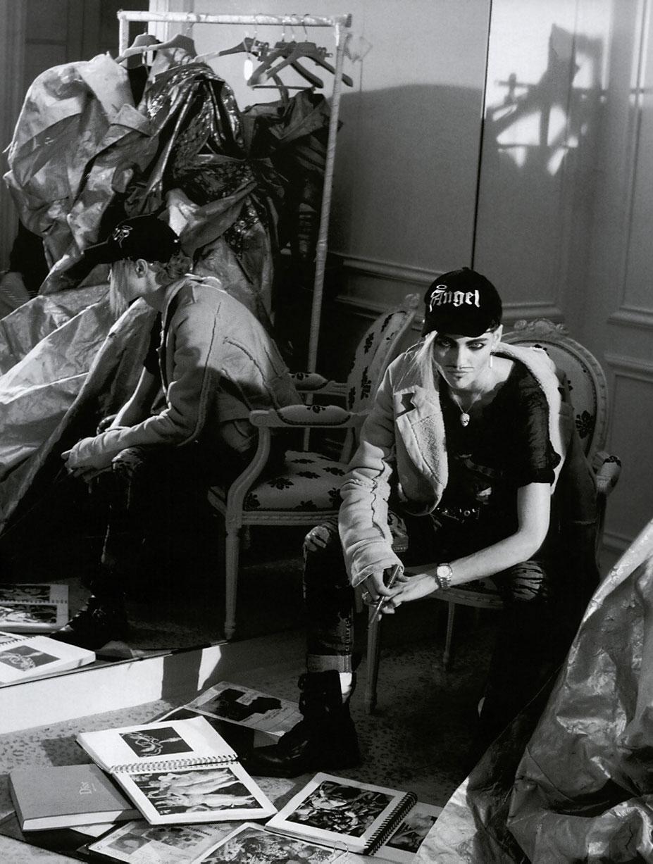 В шкуре Джона Гальяно / Саша Пивоварова, фотограф Питер Линдберг / фото 06