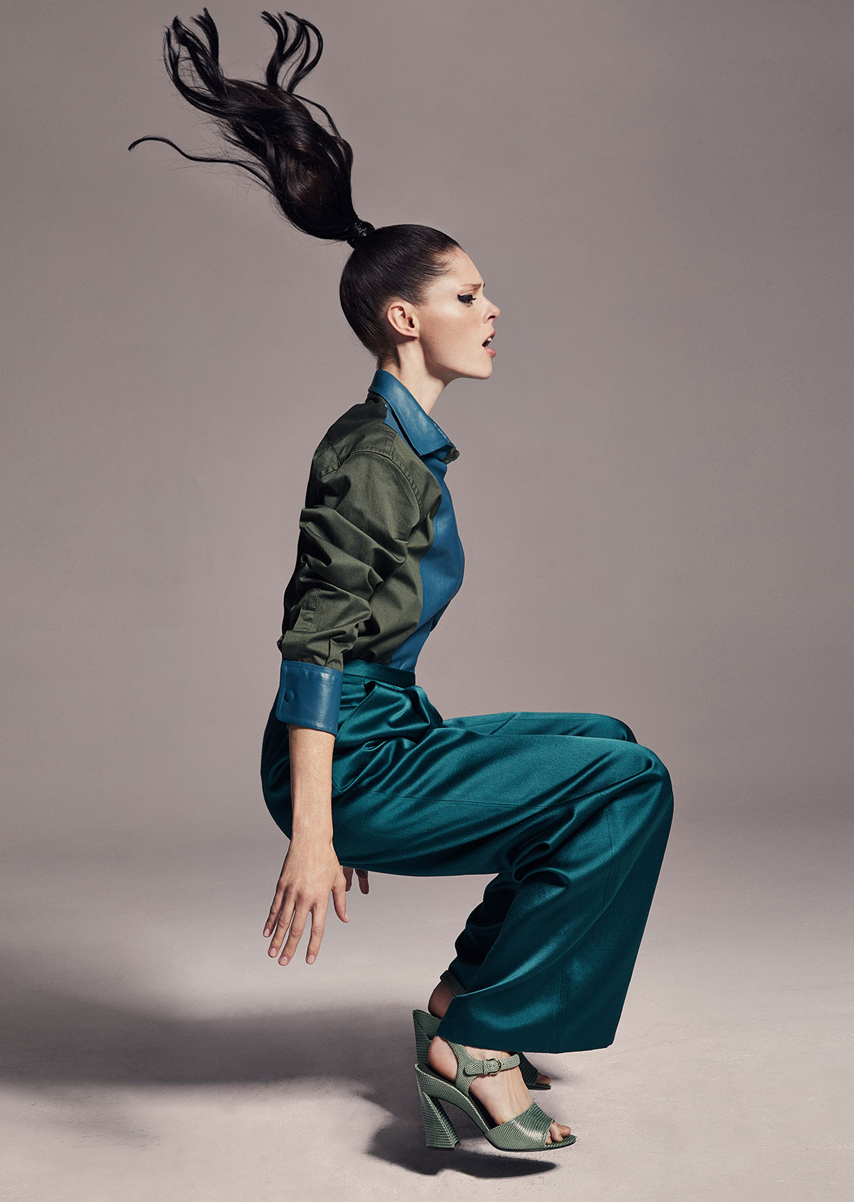 модное дефиле на крыше, модель Коко Роша / фото 06