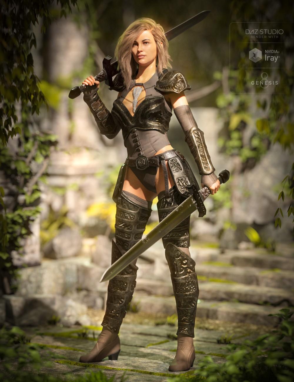 Throne Defender Armor for Genesis 8 Female(s)