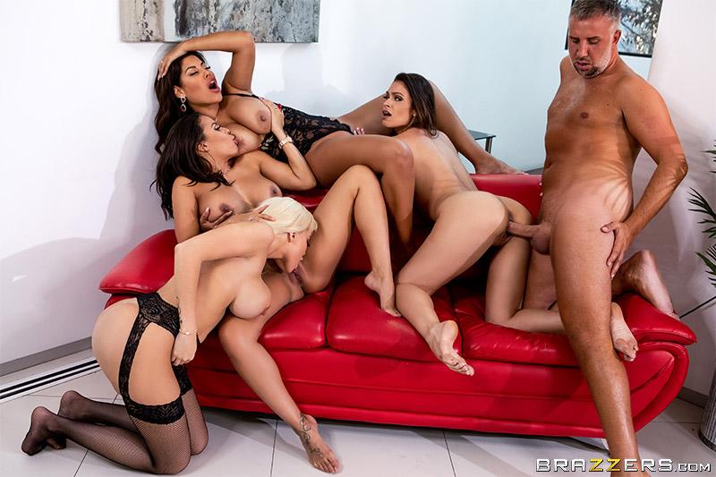 Bridgette B, Katana Kombat, Luna Star, Victoria June – Office 4-Play Latina Edition – Big Tits At Work – Brazzers